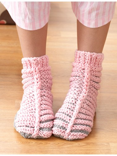 Free Knitting Pattern For Phentex Slippers : Phentex - Fun Family Slippers - Pattern Books Yarnspirations
