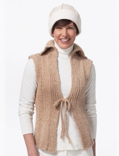 Natural Vest - Patterns Yarnspirations