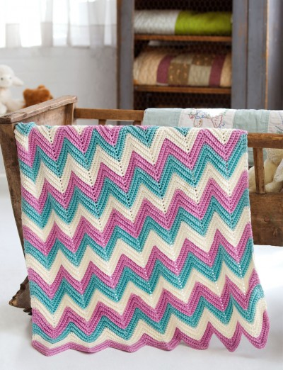 Zigzag Crochet Baby Blanket Patterns : Zig Zag Baby Blanket - Patterns Yarnspirations