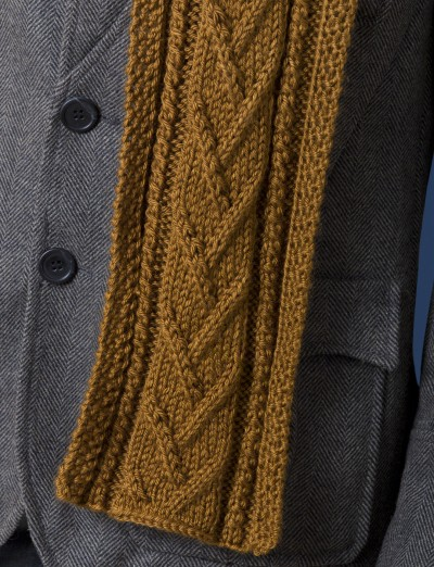 Cable Knit Shawl Pattern : Caron Combo Cable Scarf, Knit Pattern Yarnspirations