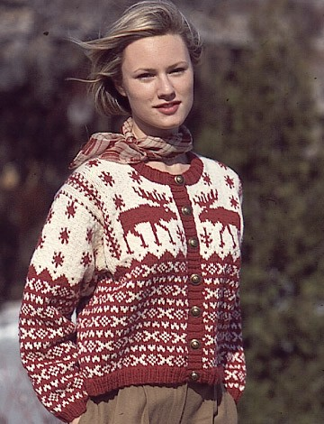 Knitting Patterns For Nordic Sweater : Patons Nordic Cardigan (Pattern) Yarnspirations