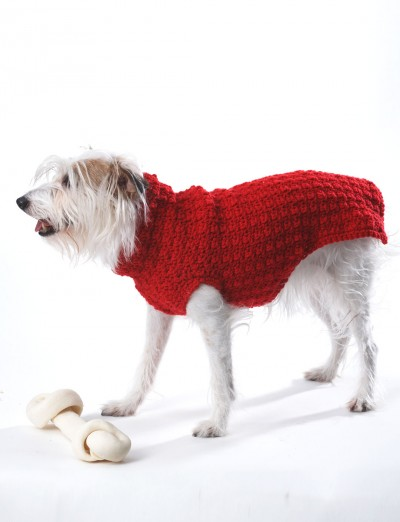 Knitting Pattern For Staffie Dog Coat : Bernat Crochet Dog Coat, Crochet Pattern Yarnspirations