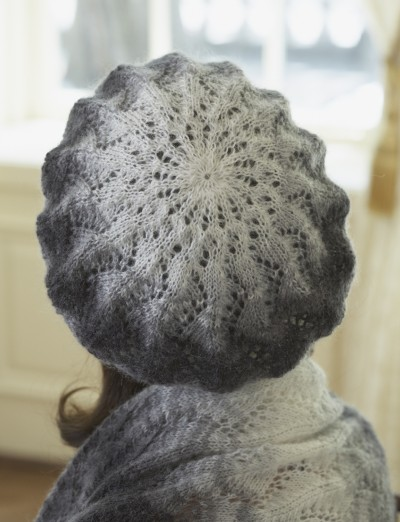 Knitting Patterns Using Patons Lace Yarn : Patons Vine Lace Beret, Knit Pattern Yarnspirations