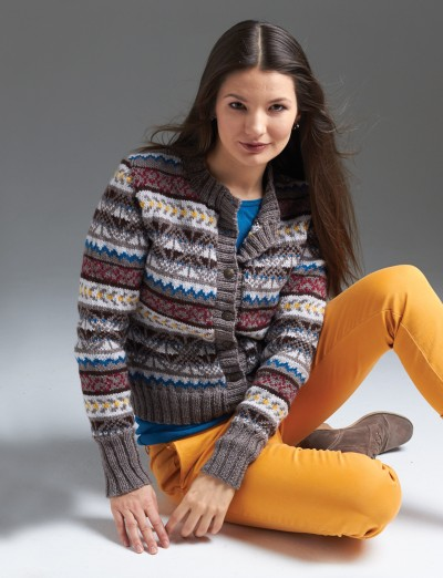 Fair Isle Knitting Kits Canada : Patons a fair isle to remember knit pattern yarnspirations