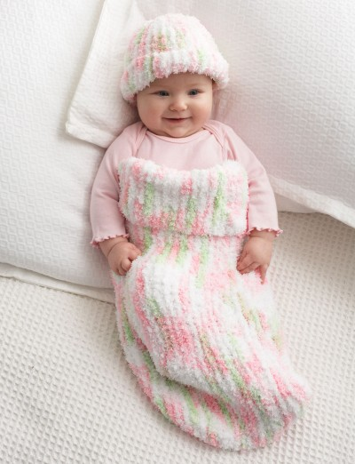 Knitting Patterns For Baby Cocoon Free : Bernat Knit Baby Cocoon, Knit Pattern Yarnspirations