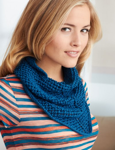 Patons Kerchief, Knit Pattern Yarnspirations
