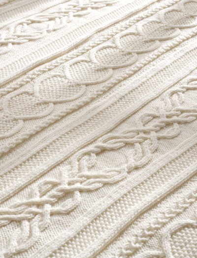 Free Knit Afghan Patterns : Bernat Gift of Love Cable Afghan, Knit Pattern ...