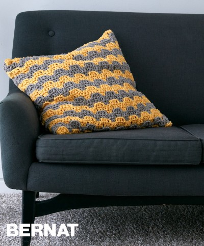 Bernat Step Up Pillow Crochet Pattern Yarnspirations