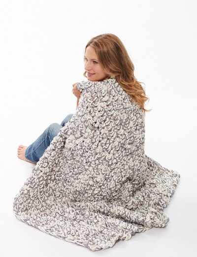 Bernat Finger Crochet Blanket, Finger Crochet Pattern Yarnspirations