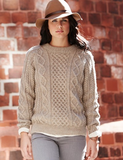 Free Aran Knitting Patterns To Download : Patons Honeycomb Aran, Knit Pattern Yarnspirations