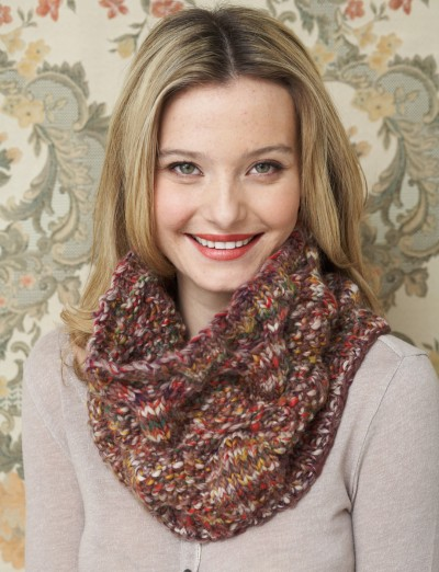 Patons Cowl Knitting Pattern : Patons Cable Textures Cowl, Knit Pattern Yarnspirations