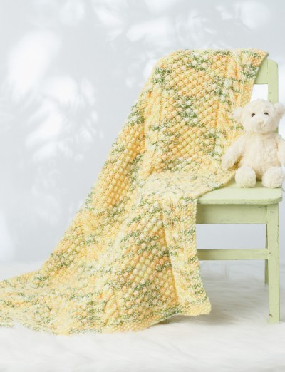 Bernat Baby Blanket Knitting Patterns : Bernat Cable Baby Blanket, Knit Pattern Yarnspirations