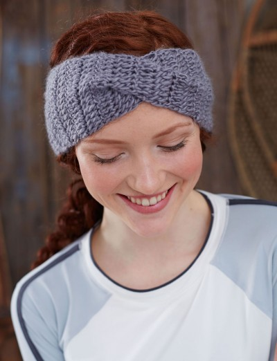 Twisted Headband Knit Pattern : Bernat Twisted Step-Sister, Crochet Pattern Yarnspirations