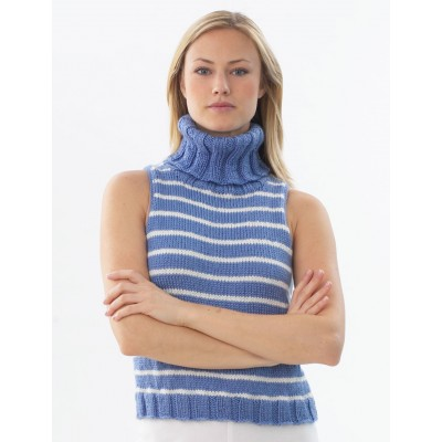 Stripe Sleeveless Pullover