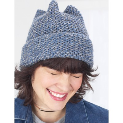 Garter Stitch 4 Point Hat