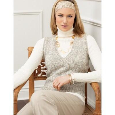 Women\'S V Neck Vest Knitting Pattern - Sweater Vest