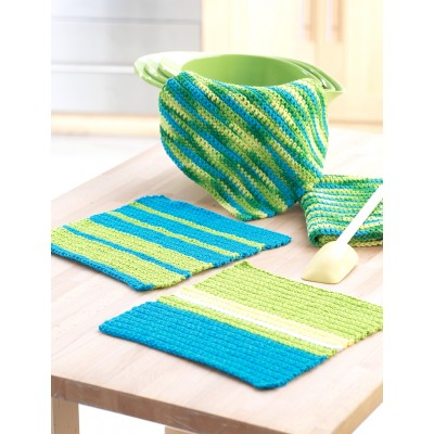 Easy Stripes Hand Towel and Dishcloth Set