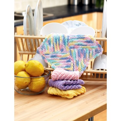 Pretty Pastels Dishcloth