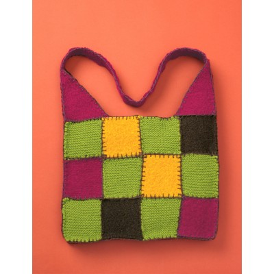 Felted & Knit Patchwork Bag