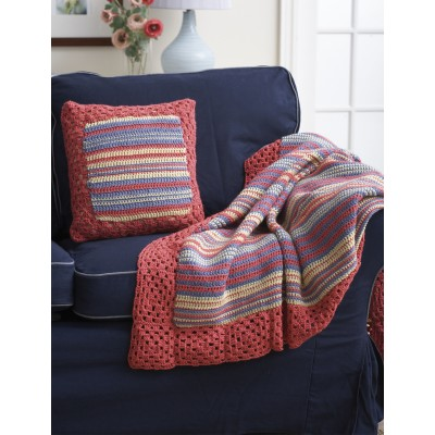 Stripes and Squares Blanket and Pillow