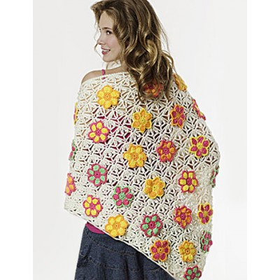 Summer Flowers Shawl