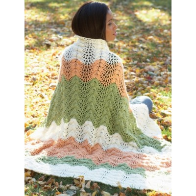 Melon Ripple Afghan