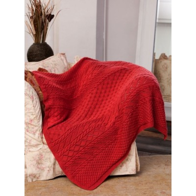 Lace Panel Throw
