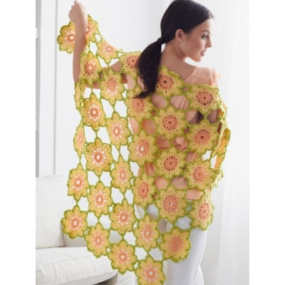Garden Flowers Shawl