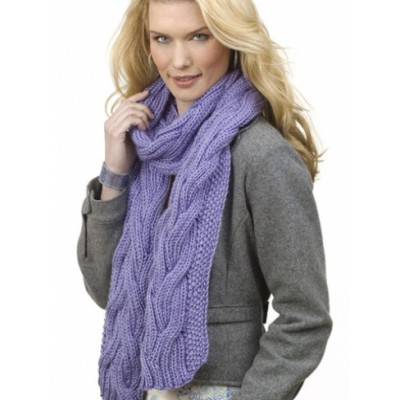 Reversible Cable Rib Scarf