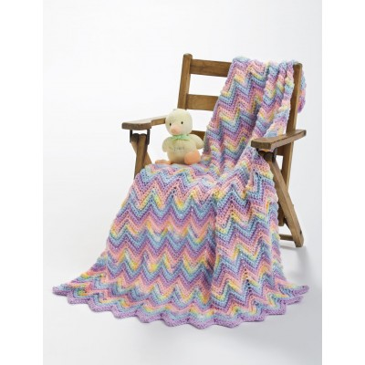 Knit or Crochet Ripple Baby Blanket