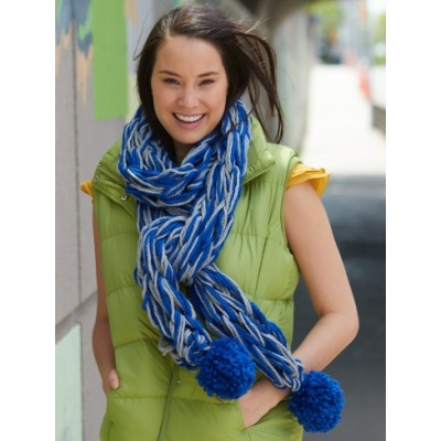Arm Knit School Spirit Scarf