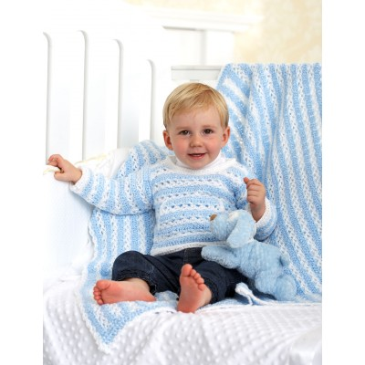 Striped Pullover and Blanket