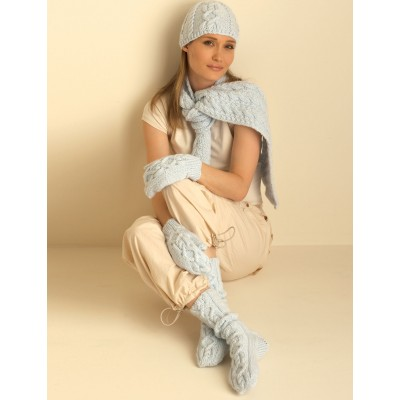 Cable Hat, Mittens, Scarf and Socks