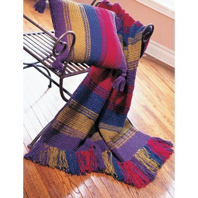 Patons Woven-Look Blanket