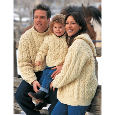 Free Knitting Patterns For Childrens Aran Sweaters : Patons Family Cables (Pattern) Yarnspirations