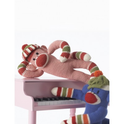 Crochet Striped Funky Monkey