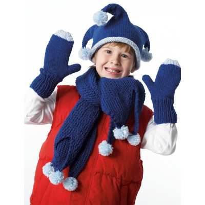 Jester Hat, Mittens and Scarf