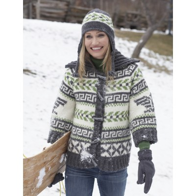 Navajo Cardigan and Hat