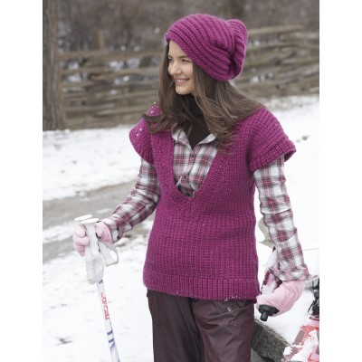 Rib Stitch Vest and Brioche Stitch Hat