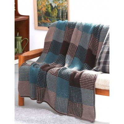 Plaid Texture Afghan