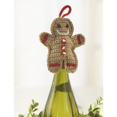 Gingerbread Man Wine Topper
