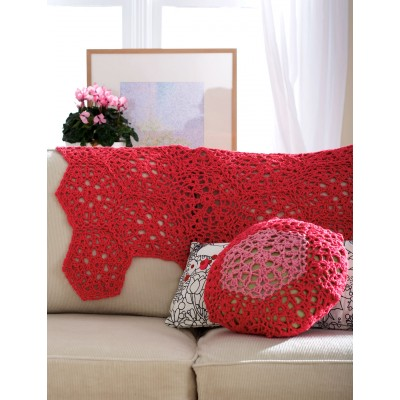 Cranberry Mousse Throw and Cushion