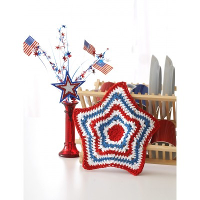 Stars and Stripes Dishcloth