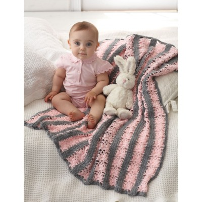 Lacy Stripes Blanket