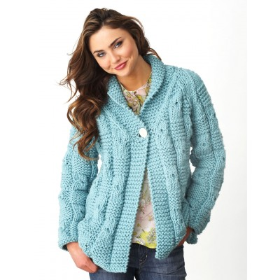 Textured Checks Cardigan