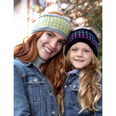 Patons Step 1: Graphic Grid Headband, Knit Pattern | Yarnspirations