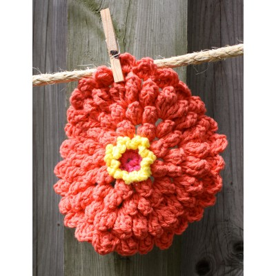 Zinnia Dishcloth