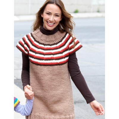 Striped Yoke Pullover