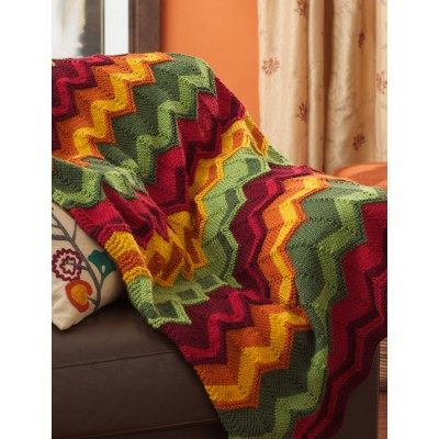 Spicy Chevron Blanket
