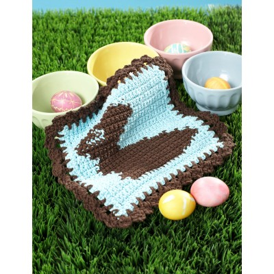 Chocolate Bunny Dishcloth